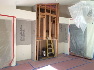 During Fireplace Remodel